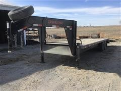 2015 Travalong Gooseneck T/A Flatbed Trailer