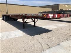 2002 Great Dane GPLWSAR-248 T/A Flatbed Trailer