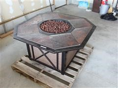 Outdoor Propane Fire Pit & Chairs