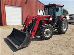 2006 Case IH JX95 MFWD Tractor W/LX730 Loader