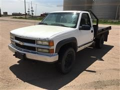 2000 Chevrolet 3500 4x4 Flatbed Pickup