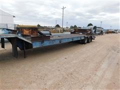 1977 Transport GPXT1-35-FN Semi Lowbed Machinery Trailer