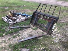 Worksaver UL246 Skid Steer Pallet Forks