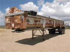 1998 Warren T/A Hydraulic End Dump Trailer