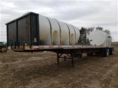 1999 Dorsey T/A Flatbed Trailer W/Nurse Tanks