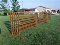 24' Long 5' Tall Freestanding Livestock Panels
