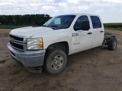 2013 Chevrolet 2500 HD 4x4 Crew Cab & Chassis Pickup