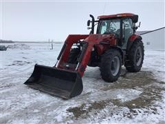 2015 Case IH Maxxum 140 MFWD Tractor & Loader