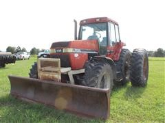 Case IH 7130 MFWD Tractor W/Pusher Blade