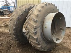 Goodyear 18.4-38 Tires W/ Clamps