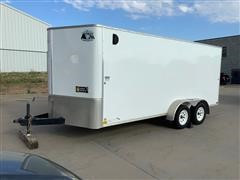 2015 R&M Big Horn T/A Enclosed Trailer W/Shelving