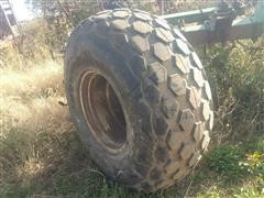 Titan Torc-Trac 23.1X26 Flotation Tire On Wheel