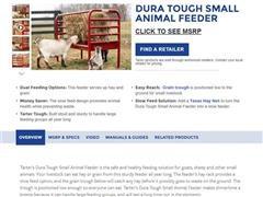 Tarter Dura Tough Small Animal Feeder