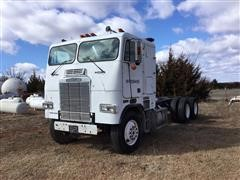 1985 Freightliner FLT8664T T/A Cabover Cab And Chassis