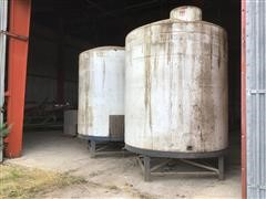 3000-Gallon Poly Storage Tanks