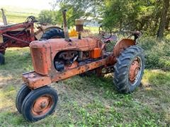 1952 Allis-Chalmers WD 2WD Tractor & Post Hole Digger