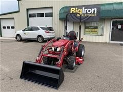 2017 Mahindra Emax 22L 4WD Compact Utility Tractor W/Loader & Mower
