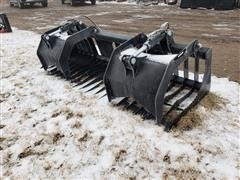 2020 Brute Skid Steer Rock/Brush Buckets W/Grapples