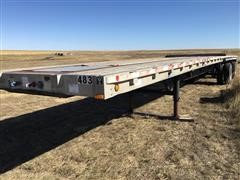 2001 Wilson Road Brute Spread T/A Flatbed Trailer