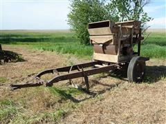 Wooden Seed Cleaner On Homemade Trailer
