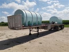 1984 Ravens T/A Flatbed Sprayer Tender Trailer W/Tanks
