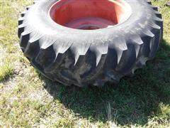 Titan Hi-Traction Lug 20.8 X 38 Bar Tires On Case Wheels