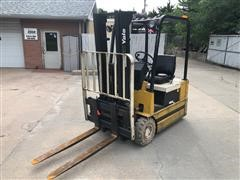 1988 Yale ERPO30TCE36SF077 3-Wheel Electric Forklift