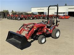 2016 Mahindra Emax 22L MFWD Compact Utility Tractor W/Loader