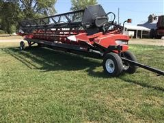 2010 Case IH 2020 30 B88 BJ Platform Header W/Trailer