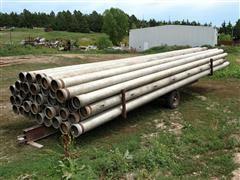 Ames & Rainway Aluminum Pipe on Homemade Pipe Trailer