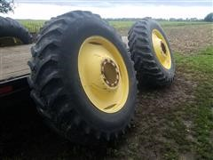 Goodyear Radial 18.4R38 Tires Mounted On Rims