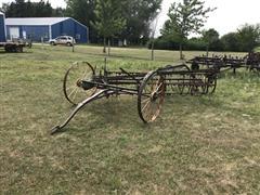 John Deere Steel Wheel Bar Rake