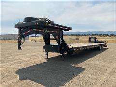 2019 PJ TA REM L3402 T/A Dual Flatbed Gooseneck Trailer