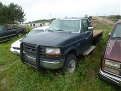 1993 Ford F350 XL Flatbed Pickup, 4X4