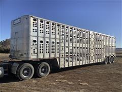 1996 Wilson PSDCL-302 53' Tri/A Livestock Trailer