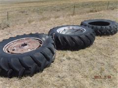 "Massey Ferguson 38"" Dual Rims W/18.4-38 Tires & Spare 18.4-38 Tire"