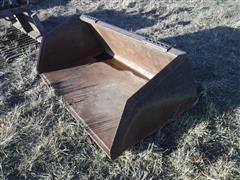 """Melroe 54"""" Fertilizer Bucket Skid Steer Attachment"""
