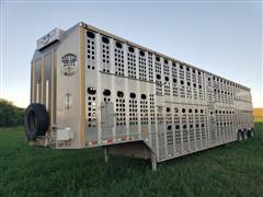 2016 Merritt 53' Tri/A Aluminum Livestock Trailer