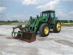 1997 John Deere 7810 MFWD Tractor W/JD 740 Loader