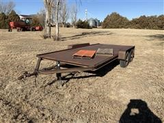 1983 Homemade T/A Flatbed Trailer