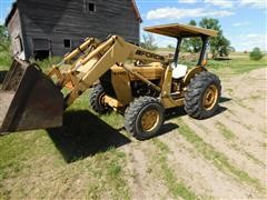 Ford 445 D MFWD Industrial Tractor W/Loader & Bush Hog
