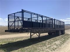 1986 Great Dane T/A Flatbed Trailer W/Beet Baskets