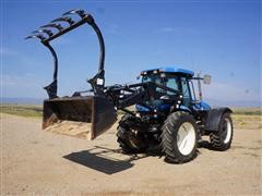2009 New Holland TV6070 4WD Bi-Directional Tractor W/Loader