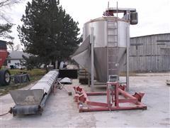 Kraus VB-10 8 Ton Fertilizer Blender Scale & 27' Conveyor