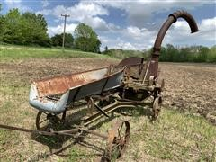 Stationary Silage Chopper, Wagon With Seeder & Horse Drawn Cultivator