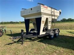 Friesen 240 Seed Express Dual-Compartment T/A Seed Tender W/Swinging Conveyor