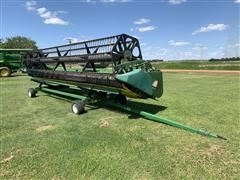 John Deere 925 Flex Grain Header W/Unverferth HT25 Header Trailer