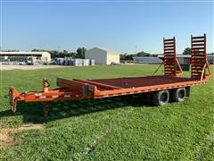 1996 Rice Special-Pole T/A Flatbed Trailer