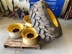 Goodyear 19.5LR24 Tire & Rims