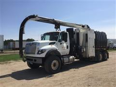 2008 International 7600 T/A Mud Dog 1000 Hydrovac Excavator Truck